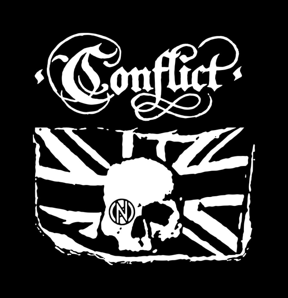 conflict t-shirt backpatch