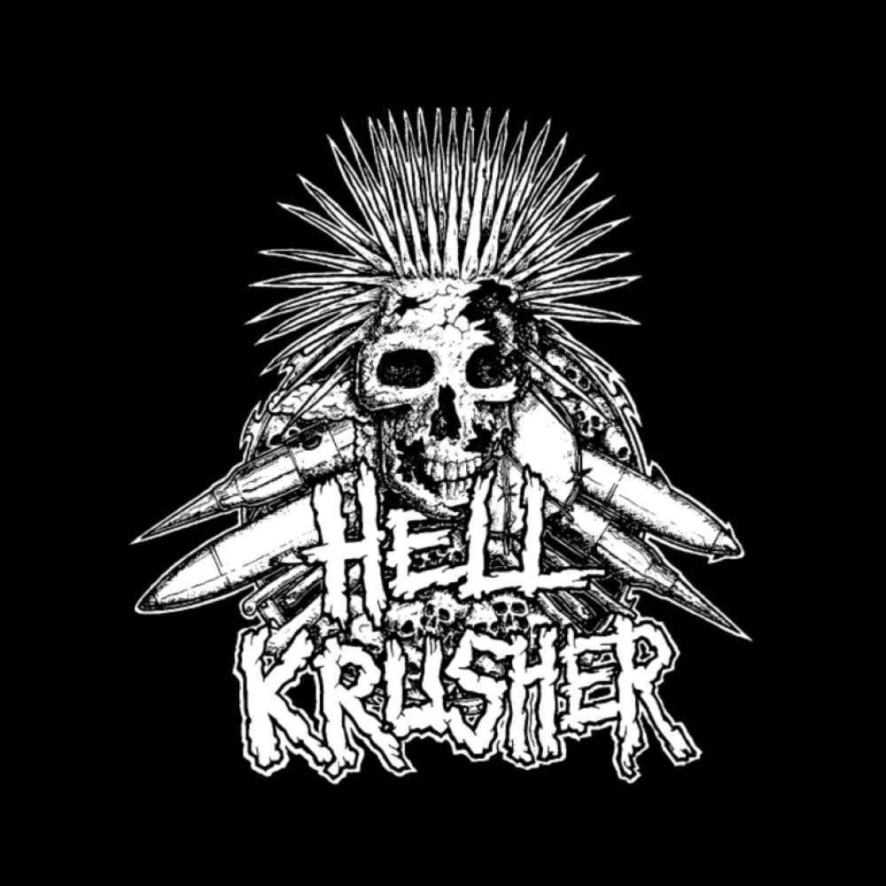 hellkrusher t-shirt backpatch