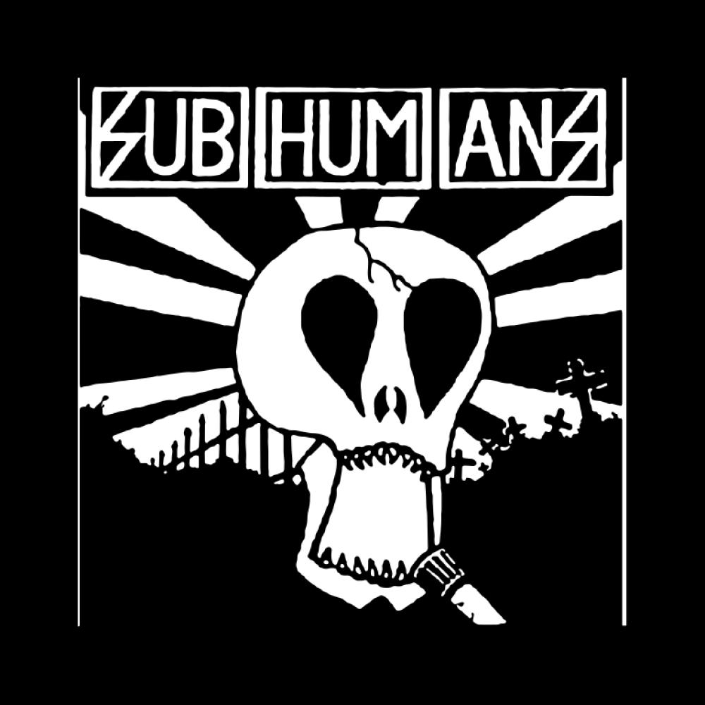 subhumans t-shirt backpatch