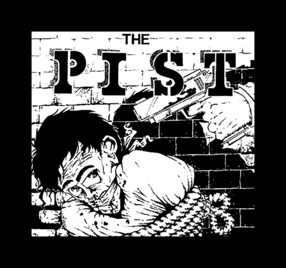 the pist t-shirt backpatch