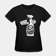 Camisetas para mujer Clean up your neighborhood! Antifa cleaning agent 100% anti-fascist
