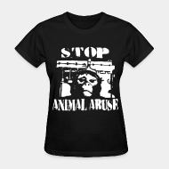 Camisetas para mujer Stop animal abuse