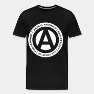 T-shirt Xtra-Large Animal-friendly / anti-fascist / gay-positive / pro-feminist
