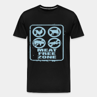 T-shirt Xtra-Large Meat free zone