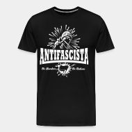 T-shirt Xtra-Large Antifascista! No borders, no nations.