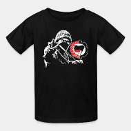 Kid's t-shirt antifa anti racist anti nazi