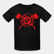 Kid's t-shirt RASH - Red & Anarchist Skinheads
