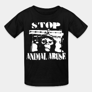 Ni�os Stop animal abuse