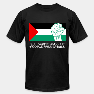 Camisetas de producci�n local Solidarit� avec le peuple Palestinien