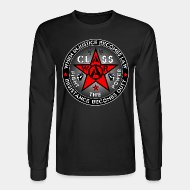 Long-sleeves crewneck When injustice becomes law resistance becomes duty - class war fight the power