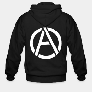 Zipper hooded sweatshirt Anarchism