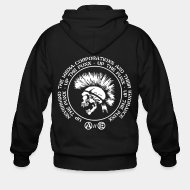 Sudaderas con capucha (Zip) Up the punx - Nevermind the media, corporations and their ignorance