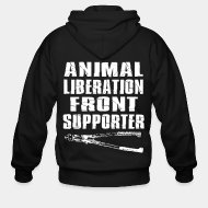 Zip hooded sweatshirt Animal liberation front supporter