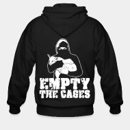 Sudaderas con capucha (Zip) Empty the cages