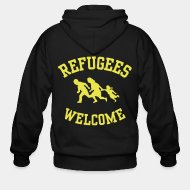 Sudaderas con capucha (Zip) Refugees welcome