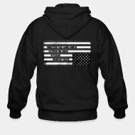 Sudaderas con capucha (Zip) There is no flag large enough to cover the shame of killing innocent people
