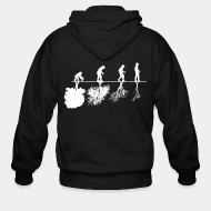 Zipper hooded sweatshirt t shirt