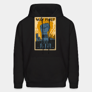 Hooded sweatshirt May first unite! the mighty nintey nine