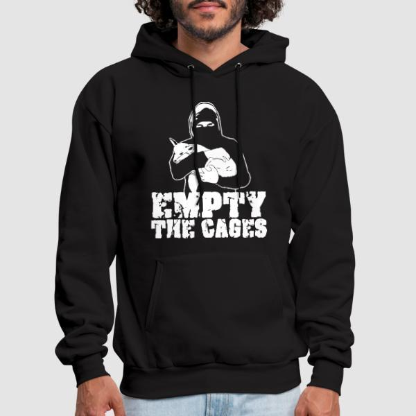 Empty the cages - Animal Liberation Hooded sweatshirt