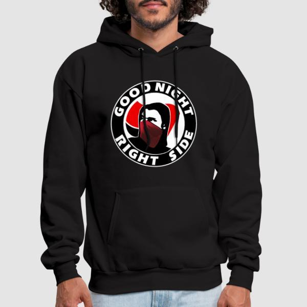 Good night right side - Anti-fascist Hooded sweatshirt