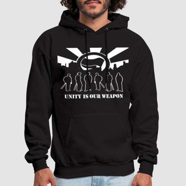 Unity is our weapon - Anti-fascist Hooded sweatshirt