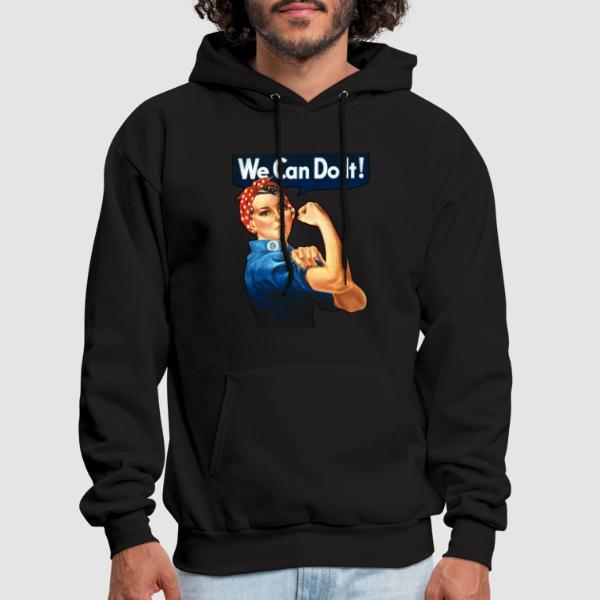 We can do it! (Rosie The Riveter) - Feminist Hooded sweatshirt anti-sexist
