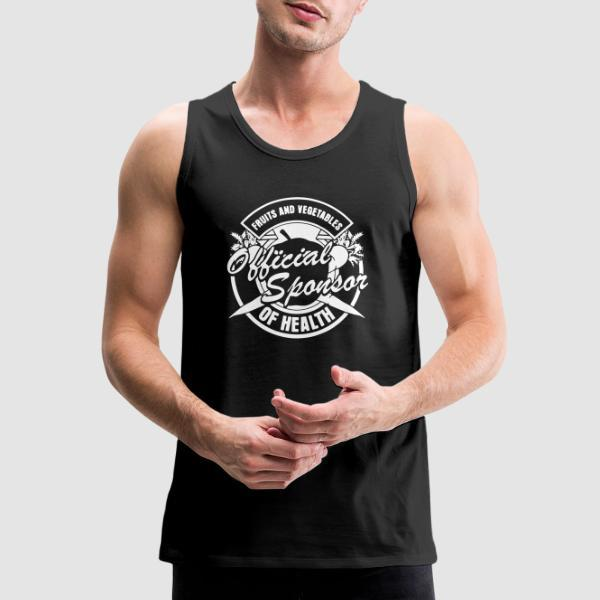 Fruits and vegetables - official sponsor of health - Animal Liberation Tank top
