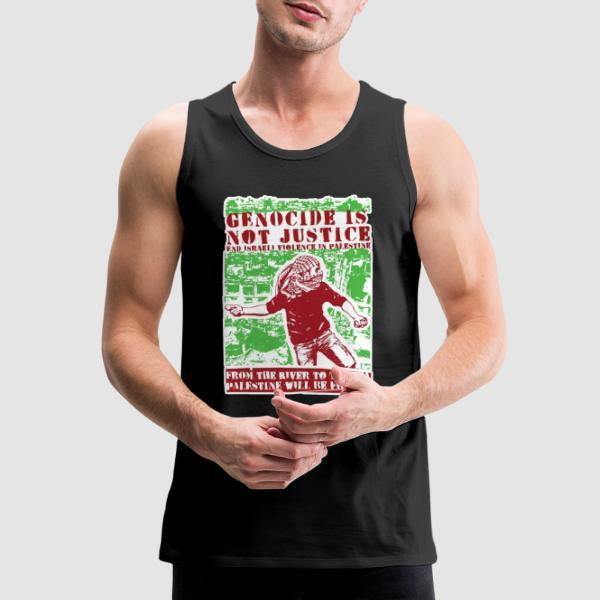 Genocide is not justice, end israeli violence in Palestine. From the river to sea, Palestine will be free! - Anti-war Tank top