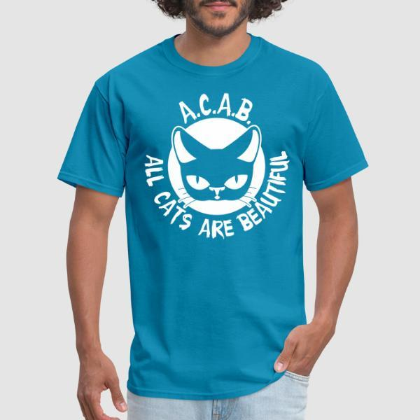 A.C.A.B. All Cats Are Beautiful - Funny T-shirt
