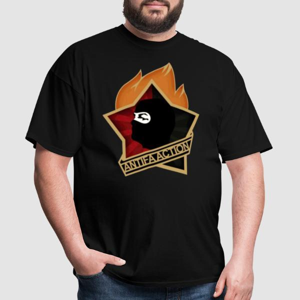 Antifa action - Anti-fascista Camiseta