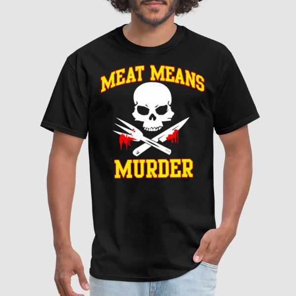 Meat means murder - Animal Liberation T-shirt