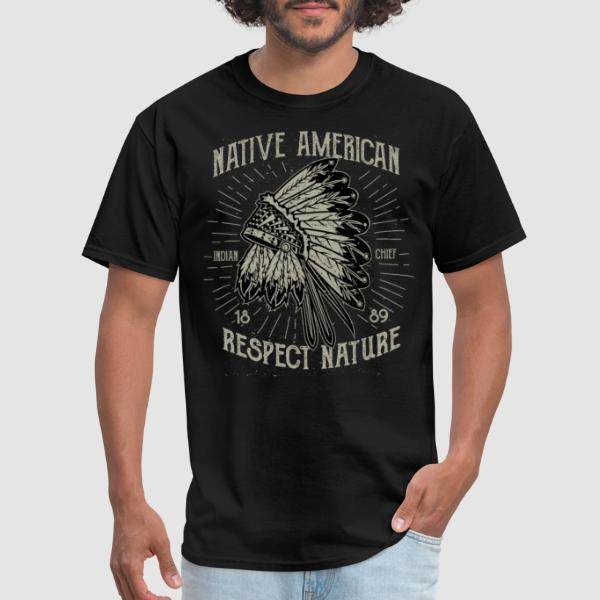 Native american - respect nature - Eco-friendly T-shirt