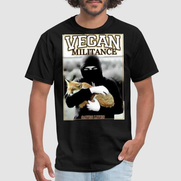 Vegan militance saves lives - Animal Liberation T-shirt