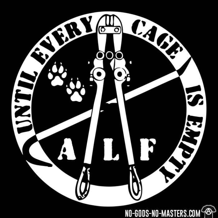ALF until every cage is empty - Animal Liberation Zip hoodie