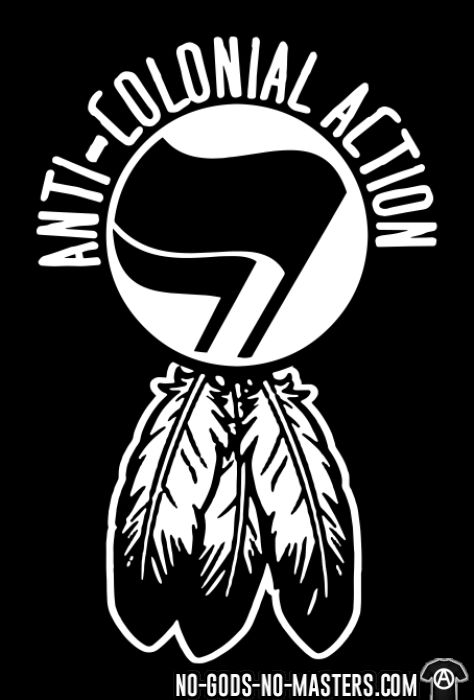 Anti-colonial action - Anti-fascist Hooded sweatshirt