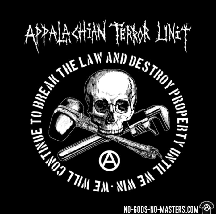 Appalachian Terror Unit - We will continue to break the law and destroy property until we win - Band Merch Kids t-shirt