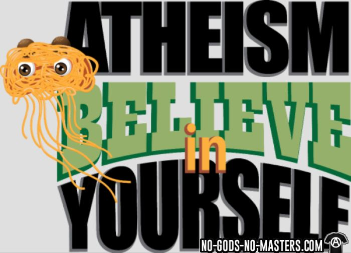 Atheism believe in yourself - Atheist T-shirt