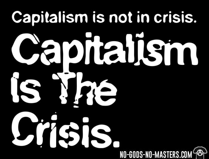 Capitalism is not in crisis. Capitalism is the crisis. - Activist Tank top