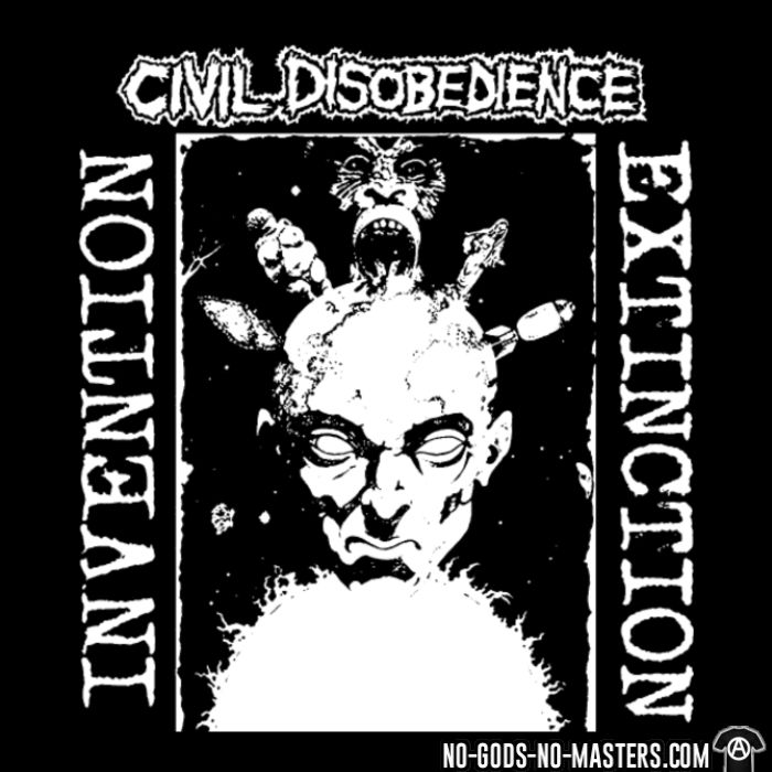 Civil disobedience - invention extinction - Band Merch Hooded sweatshirt