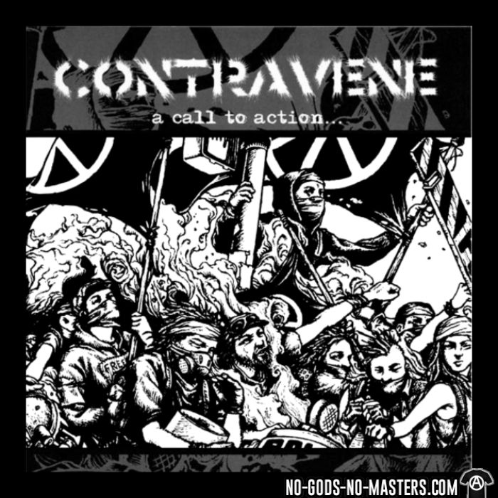 Contravene - A call to action - Band Merch Organic T-shirt