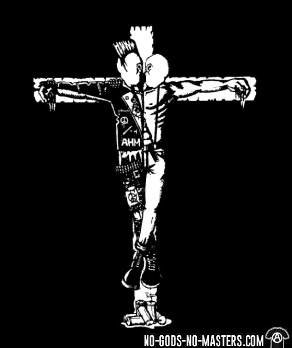Crucified punk & skin - Punk T-shirt