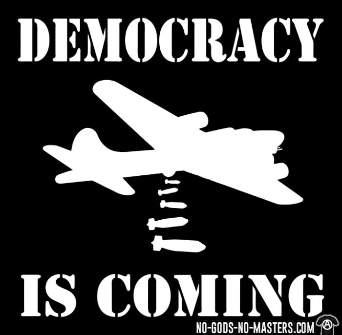 Democracy is coming - Anti-war T-shirt