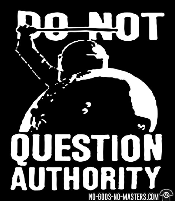 Do not question authority - ACAB Hooded sweatshirt