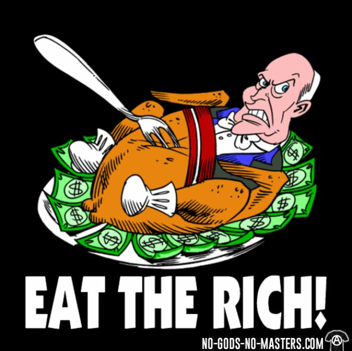 Eat the rich! - Funny T-shirt