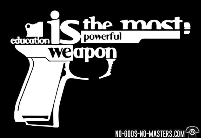 Education is the most powerful weapon - Anti-war Long sleeves