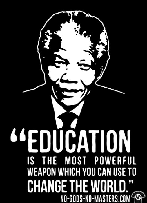 Education is the most powerful weapon which you can use to change the world (Nelson Mandela) - Black Lives Matter T-shirt