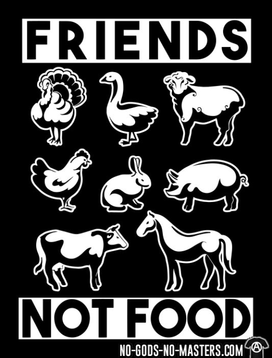 Friends not food - Animal Liberation T-shirt