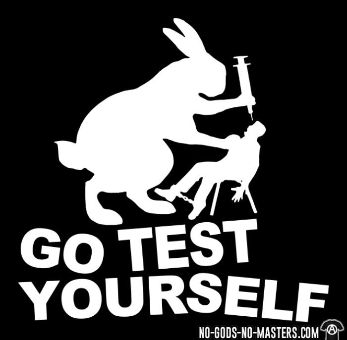 Go test yourself  - Animal Liberation Long sleeves