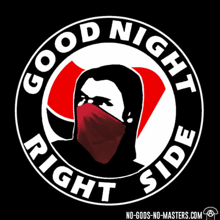 Good night right side - Anti-fascist Women tank tops