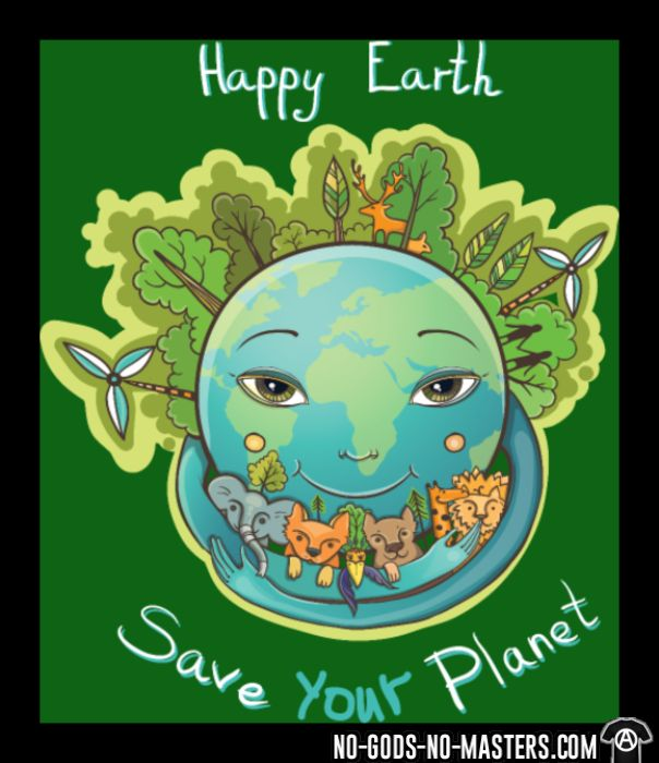 Happy earth save your planet - Eco-friendly Tank top